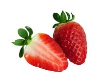 Free Two Halves Of A Strawberry Stock Image - 18658771