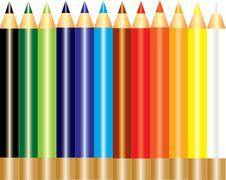 Free A Set Of Rainbow Color Pencil Stock Photos - 18659093