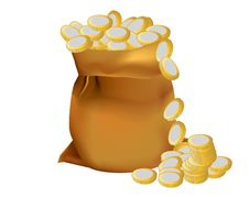 Free A Sack Of Coins Stock Images - 18659114
