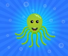 Free Green Octopus Stock Images - 18659834