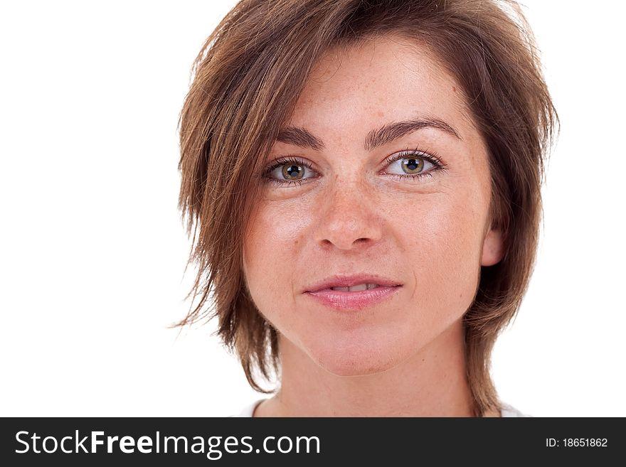 Charming well-groomed girl