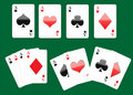 Free Four Aces Playing Cards Set Stock Image - 18661641