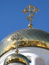 Free Two Gilded Dome Orthodox Church Stock Photography - 18662152