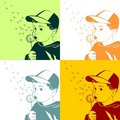 Free Vector Little Boy Blowing On A Dandelion Royalty Free Stock Image - 18664596