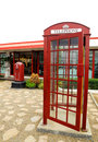 Free Red Telephone Box Royalty Free Stock Photography - 18666507