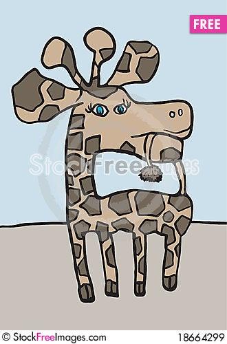 Giraffe Oscar Stock Photo