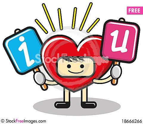 Funny heart Stock Photo