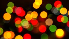 Free Multi-colored Lights On A Background Royalty Free Stock Photography - 18660177