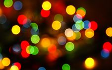 Free Multi-colored Lights On A Background Royalty Free Stock Images - 18660179