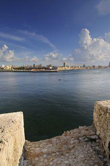 View Of Havana City Bay Entrance Stock Photo