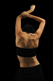 Free Abstract Female Back Isolated On Black Royalty Free Stock Photo - 18661185