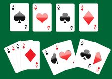Four Aces Playing Cards Set Stock Image