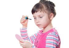 Free Little Girl With Mascara Royalty Free Stock Image - 18661826