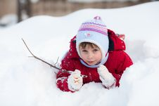 Free Kid On The Snow Stock Photography - 18661962