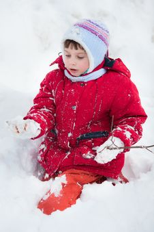 Free Kid On The Snow Stock Image - 18662001