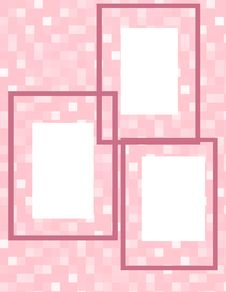 Free Pink Cubes Frame Collage Royalty Free Stock Photo - 18662365