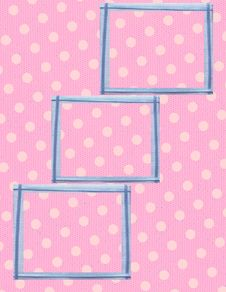 Free Pink Polka Dot Frame Collage Stock Images - 18662404