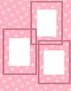 Free Pink Polka Dot Photo Collage Royalty Free Stock Photography - 18662417