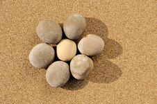 Free Pebbles In Flower Shape Stock Photography - 18663222