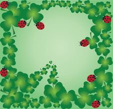 Free Shamrock Frame Stock Photography - 18663962
