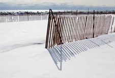 Free Snow Fence Stock Photography - 18664562