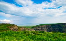 Free Cliffs Of Moher  Under Blue Sky , Ireland Stock Photography - 18664712