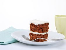 Free Carrot Cake With Coffee Stock Photo - 18665180