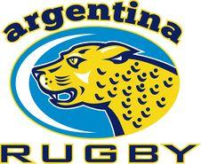 Free Rugby Argentina Jaguar Leopard Royalty Free Stock Image - 18666386