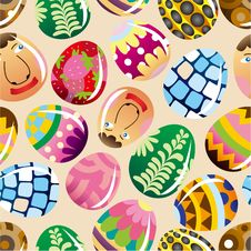 Seamless Easter Egg Pattern Royalty Free Stock Photo