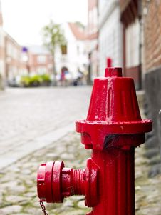 Free Red Fire Hydrant Royalty Free Stock Photography - 18668007