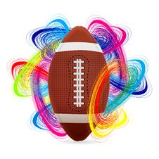 Free American Football Ball Royalty Free Stock Images - 18668119