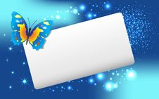 Free Abstract  Banner With  Butterfly And Stars. Stock Photography - 18669062