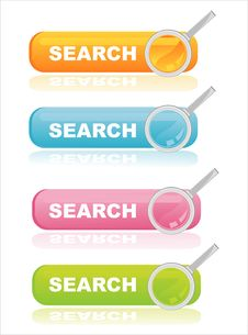 Colorful Search Banners Royalty Free Stock Photos