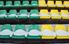 Free Tribune Yelow And Green Chairs Stock Photo - 18669460