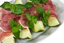 Free Prosciutto Con Melone Royalty Free Stock Photography - 18669937