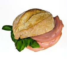 Free Bread Roll With Mortadella Royalty Free Stock Photography - 18669977