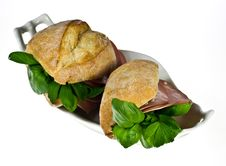 Free Bread Rolls With Mortadella Stock Photo - 18669990