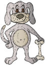 Free Cartoon Dog And Bone Royalty Free Stock Photos - 18671878