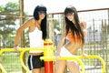 Free Girls On Sport Playground Stock Image - 18674721