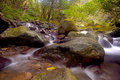 Free Cascade Falls Over Old Plum River With Rocks Royalty Free Stock Photos - 18679238