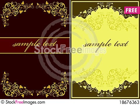 Set of Abstract floral Stock Photo