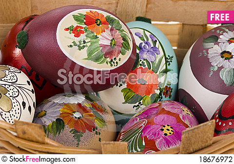 Beautiful easter eggs Stock Photo
