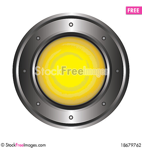 Yellow button Stock Photo