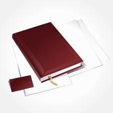 Diary With Visit Card. Stock Image