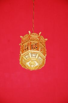Gold Lantern Royalty Free Stock Images