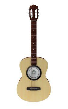 Free Strange Classic Guitar Royalty Free Stock Photo - 18671935