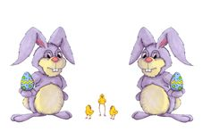 Free Easter Bunnies And Easter Chick Stock Images - 18672024