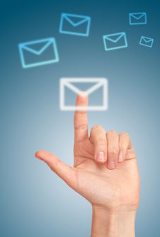 Icon Of Letter Stock Image