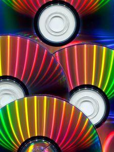 Close-up Of CDs Stock Photos