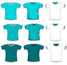 Free Blue T-shirt Royalty Free Stock Photo - 18672975